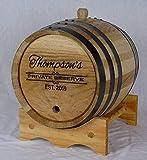 Personalized Engraved White American Oak Aging Barrels RHB156 (10 Lliter)