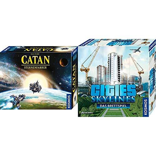 KOSMOS 693183 Catan - Sternenfahrer, Strategiespiel für 3 - 4 Spieler ab 12 Jahre & 691462 - Cities: Skylines, Das Brettspiel zum PC-Spiel, Für 1 bis 4 Spieler ab 10 Jahren
