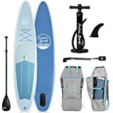 FabricBoard 12'6 Inflatable Stand Up Paddle Board, All Accessories Included (Ocean Blue)