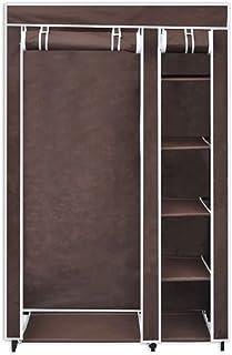 SOULONG 2pcs Penderie Pliante en Tissu Armoire Portable Double Vêtements Armoire de Rangement avec Rail de Suspenderie Org...