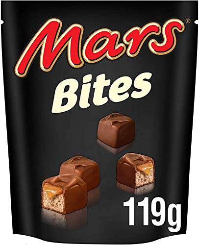 Mars Bites Pouch, 119g, Smooth Milk Chocolate with a Soft Nougat and Caramel Centre, Pack of 2