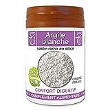 Argile blanche | 60 gélules | Confort Digestif | 230 mg dosage 100% naturel sans additif et non...