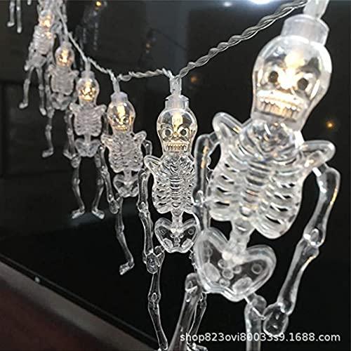 Halloween Light String Transparent Skull Frame Light Frame Light Color Lantern Ghost Festival Decoration Light String Terrorist Atmosphere Layout Led 5m