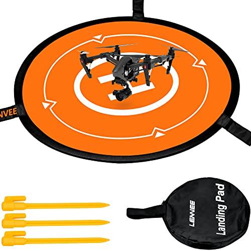 GLORHA Drone Landing Pad, 55cm Pieghevole Impermeabile Drone Parking Grembiule per Elicotteri Portatile per DJI Mavic Phantom 3 4 Spark Mavic PRO