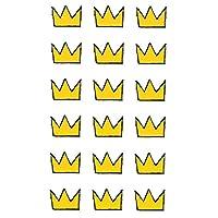 HSP タトゥー シール 2枚 セット クラウン クレヨン デザイン 王冠 tattoo