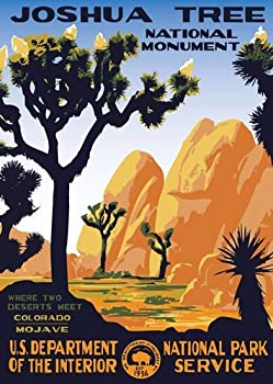 American Vinyl Joshua Tree Poster Art Bumper Sticker  rv National Park Hike ca