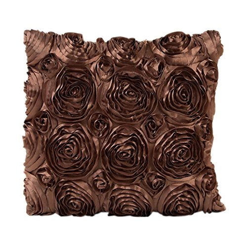 Fluffy Cojín bzline sofá talla Throw Funda De Cojín decorativo Decoración de la casa de coche 43x 43cm, marrón, Taille: 43X43cm / 16.9X16.9 '
