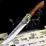 Cuchillo de carnicería forjado de mano cuchillo de deshuesado cuchillo de fruta afilada Hecho a mano Cuchillo de cocina Retro Cuchillo Hogar Cuchillos pequeños (Color : Knife and Cover)