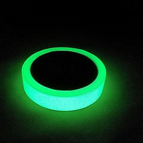 Marsway 1 Rolls Luminous Tape Sticker 10' Length x 0.8' Width Removable Waterproof Photoluminescent Glow in the Dark Safety Tape