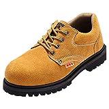 Scarpa Uomo da Lavoro Antinfortunistiche Acciaio Sportive Scarpe Sneaker Ginnastica Trekking Estive Giallo 40 EU