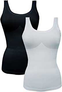 FEM Seamless Ribbed Women's Camisole Tank Top - 2 Pack