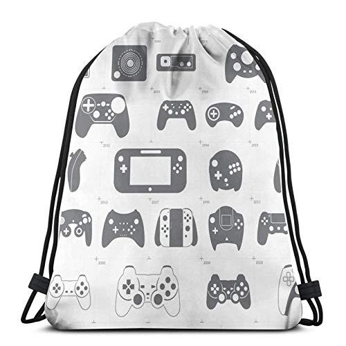 Die Entwicklung der Videospiel-Controller Drstring Rucksack Gym Sack Pack Solid Cinch Pack Sinch Sack Sport String Bag