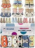 Baby Socks Toddler Girls Anti Slip Cartoon Animal 1 Year Old Gift Best