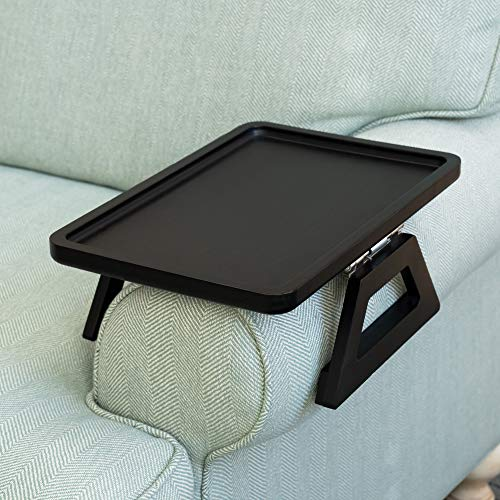 Signature Home Clip On Tray Sofa Table for Wide Couches. Couch...