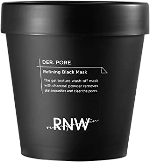 RNW DER. Pore Refining Black Mask 6.7 Oz / 200ml Gel Texture Wash-off Mask With Charcoal Powder Removes Skin Impurities & ...