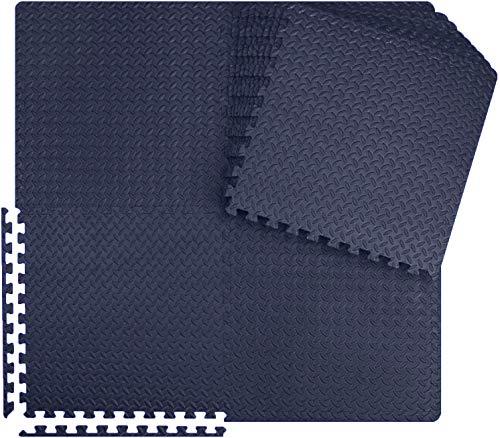 Meisterhome - 60x60x1cm - 15 Stuck - 5.4 m² -Tardis blue Schutzmatten Set Puzzlematte Bodenschutz Matte - Puzzle Bodenschutzmatten Unterlegmatte | Fitnessmatte Turnmatte Sportmatte Trainingsmatte
