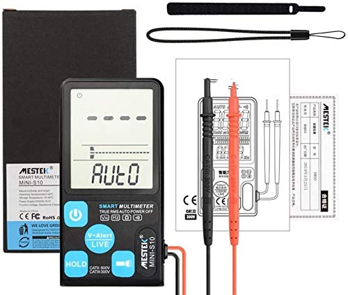 Automatische, intelligente Digitalanzeige Multimeter, 3,5 Zoll großer Bildschirm, High-Brightness-LED-Beleuchtung, zur Messung Spannung, Widerstand, 13,6 * 6.7cm tsdhjk
