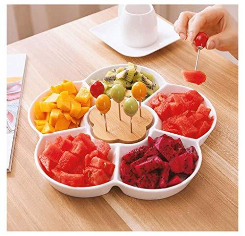 Placa de fruta de fruta de fruta de fruta placa de fruta de la fruta de la fruta del refrigerador de la placa de la ensalada de la placa de la ensalada del postre Placa de fruta secada (color: A (incl