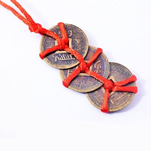Feng-Shui-Münzen aus Messing, verheißungsvolle Münzen, Trinity-Münzen/I-Ging-Münzen + Geschenktüte, Y1094, 1 Stück