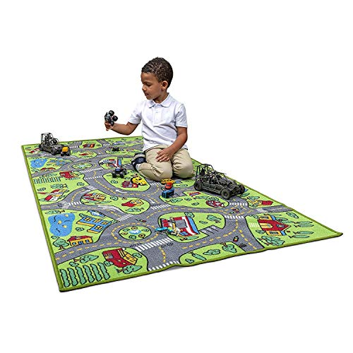 Kids Carpet Playmat City Life Extra Large Learn Have Fun Safe, Children's Educational, Road Traffic System, Multi Color Activity Centerpiece Play Mat! Great For Playing With Cars For Bedroom Playroom