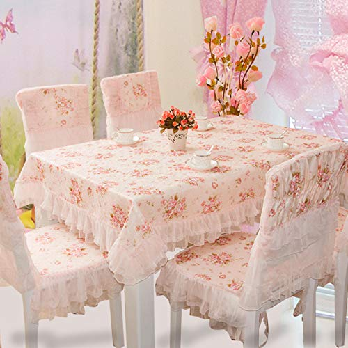 Creek Ywh kant tafelkleed tuinstoel stoelkussen tafelkleed eettafel set Western Princess (roze) tafelkleed 140 x 190 cm