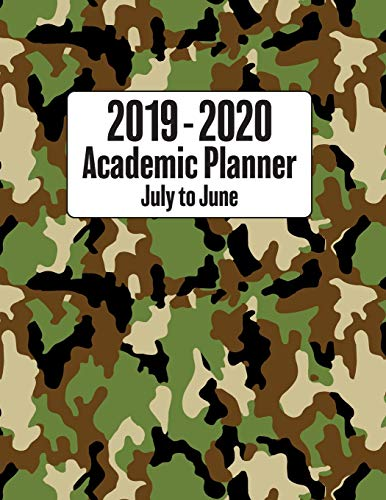 2019 - 2020 Academic Planner July to June: Jungle Camouflage Military Styled Cover - Back to School Monthly Weekly Daily Full Year Planner with ... Styled 2019 to 2020 Planners, Band 1)