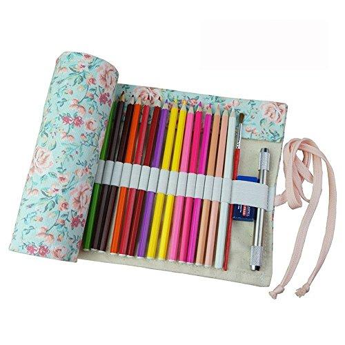 Estuche enrollable de tela Fablcrew, para lápices y otros usos, 36, 48 o 72agujeros 50*21cm 36 Holes