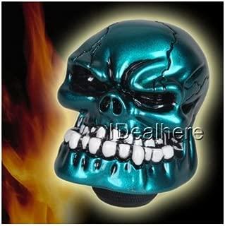 NEW Custom Shiny Blue Mad Devil Skull Head Manual Stick Shift D1 Shifter Knob (Universal Fit)