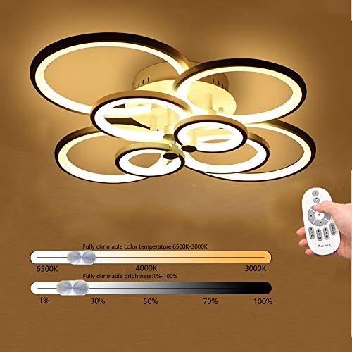 Wandun LED Deckenleuchte Moderne Einfachheit Deckenlampen Kunst Designer-Lampe Innen Deckenbeleuchtung Bürodeckenleuchten Restaurant Hotel Schlafzimmer Licht Kreis Deckenspot [Energieklasse A+]