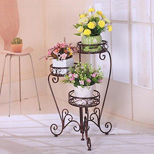 XIAOLIN- Plancher de plancher rabattable pliant étagères de jardin à étages multiples Porte-pot classique en pot européen À l'intérieur et à l'exterieur Porte-fleurs (Couleur en option) --Cadre de finition de fleurs ( Couleur : B )