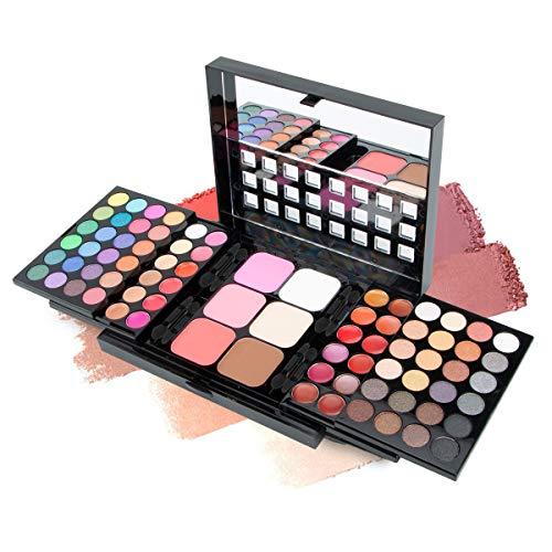 78 Farbige Lidschatten-Palette Make-up-Palette Matte All-in-One-Make-up-Kits Lidschatten-Set Concealer Lidschatten-Lippenstift Rouge-Lidschatten-Kits für Frauen und Teenager-Mädchen