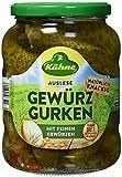 Kühne Gewürzgurken pepinillos crujiente y picante en el vaso, 360g