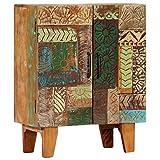 Tidyard Aparador Tallado a Mano Mueble Auxiliar Mesa Consola Madera Maciza reciclada 60x30x75 cm