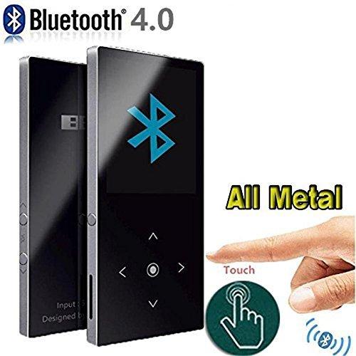 K9 Bluetooth-Version CFZC 8 GB Metallgehäuse Bluetooth MP3-Player mit Touch-Taste, unabhängiger Lautstärkeregler, Musik-Player und HD-Kopfhörer, unterstützt Micro-SD-Karten bis 64 GB, silberfarben