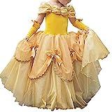 IWEMEK Mädchen Cosplay Kleid Die Schöne und das Biest Prinzessin Kostüm Kinder Off Schulter...