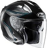 HJC Helmets 141372 Casco, Hombre, Negro Mate y Azul, XXL (63/64)