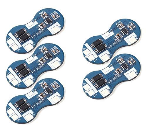 Technoiot 5 Stück 2S 4 A 7,4 V Li-Ion 18650 BMS PCM Akku Schutz Board