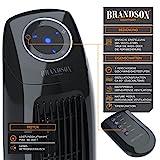 Brandson - Turmventilator mit Fernbedinung   Säulenventilator inkl. Oszillation   86 cm   60W   Ventilator mit 3 Geschwindigkeitsstufen Timer   LED-Display   leises Betriebsgeräusch   schwarz
