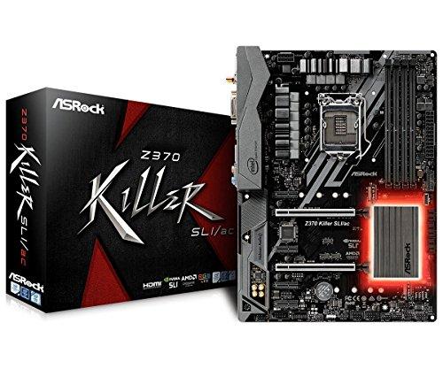ASRock Z370 Killer SLI/ac LGA 1151 (300 Series) Intel Z370 HMI SATA 6Gb/s USB 3.1 ATX Intel...