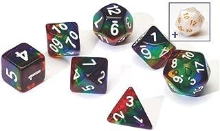 Sirius a Dice Rainbow Translucent Resin Dice Set, Game