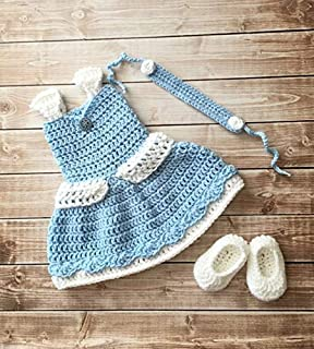 Princess Cinderella Inspired Costume/Crochet Princess Cinderella Dress/Cinderella/Princess Photo Prop Newborn to 12 Months
