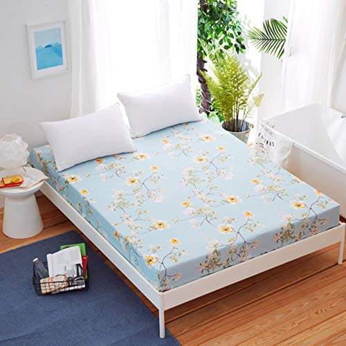 1pc Cotton Printed Fitted Sheet Mattress Cover Four Corners With Elastic Band Bed Sheet(No Pillowcases) Dropship ML,Qingyizhengnong,150X200CM