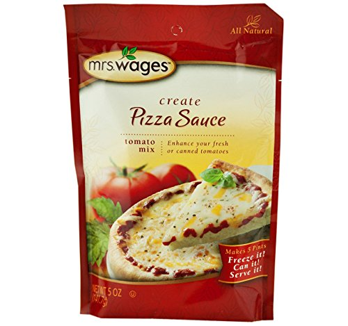 Mrs. Wages Pizza Sauce Tomato Seasoning Mix, 5 Oz. Pouch