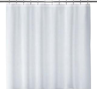 "LiBa Cloth Fabric Bathroom Shower Curtain, 72"" W x 72"" H White Heavy Duty Waterproof Shower Curtain Antimicrobial Mildew R..."