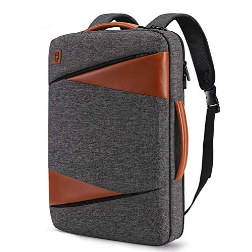 CGGA DOMISO Multi-use Laptop Sleeve With Handle For 14' 15.6' 17' Inch Notebook Bag Shockproof Laptop Bag Waterproof Computer Bag (Color : Gray and brown, Size : 14 inch)