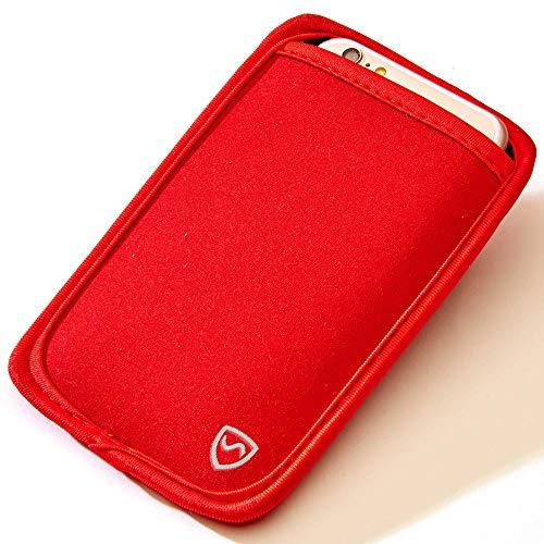 SYB - Funda Protectora de Neopreno CEM para teléfonos móviles de hasta 8,3 cm (3,25») de Ancho, Rojo