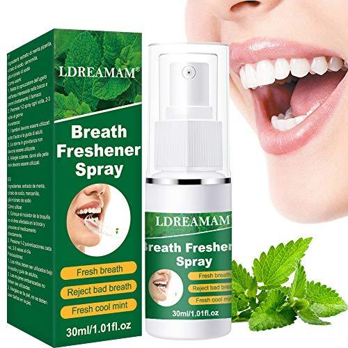Mundspray, Atemerfrischer, Mundgeruch Behandlung Spray, Sauber Mund Mundpflege Spray Oral Hygiene Zähne Bleaching Atem Lufterfrischer