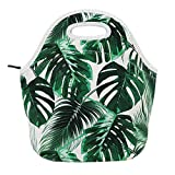Neoprene Lunch Bag for Kids, Insulated Lunch Box Tote for Women Men Adult Teens Boys Teenage Girls Toddlers (Tropical Leave)