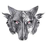 Sweo Lobo Máscara de Lobo Masquerade Cosplay Props Tema de