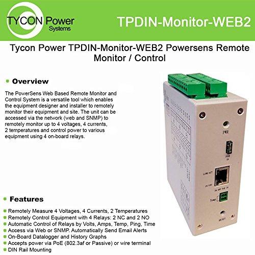 Tycon Power Systems - TPDIN-Monitor-WEB2 - PowerSens Web Remote Monitor Control